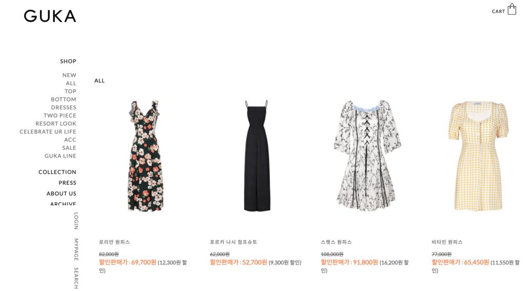 Guka.co.kr - Contemporary women's fashion in Korea (@momotherose, momotherose.com)