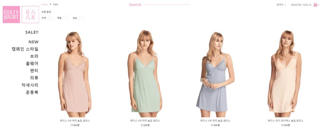 6ixty8ight.com - Korean lingerie store (@momotherose, momotherose.com)