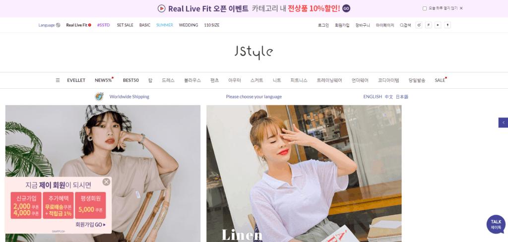 Korean women's clothing at jstyleshop.net